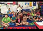 Union County Sheriff Scott Harvel is pictured visiting Kiri Lomax's 1st grade class. Photo provided by Shawnee School District 84.